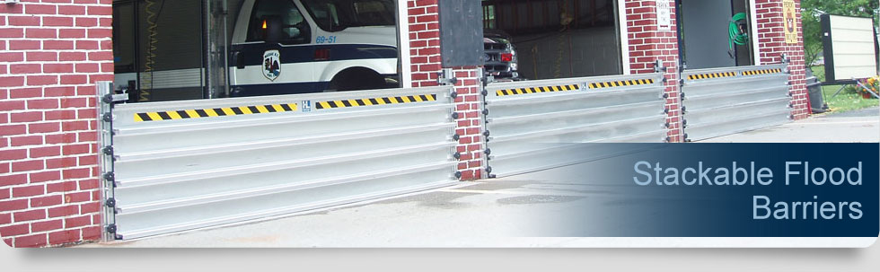 stackable flood barrier
