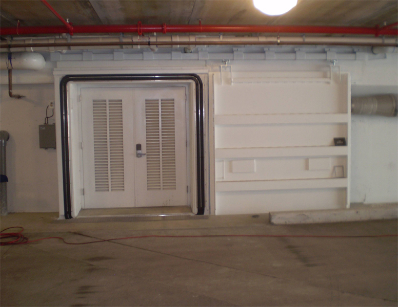 D5B –Watertight Door with inflatable seals in open position.