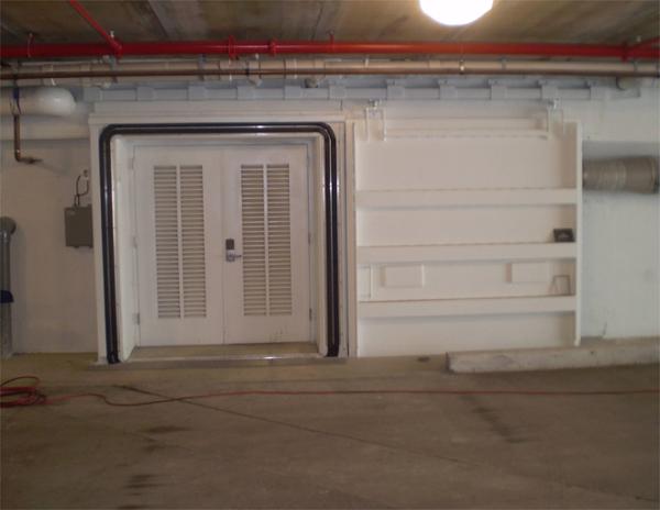 D5B –Watertight Door with inflatable seals in open position.
