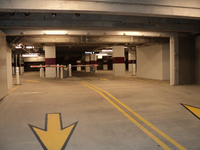 FB77 – In parking garage, open position.