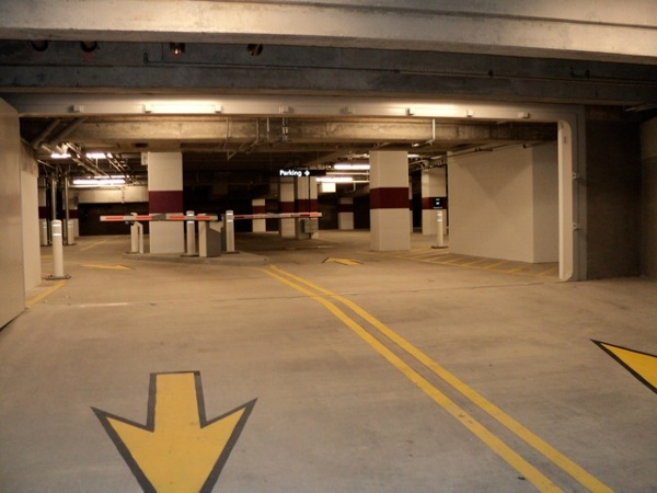 FB77 – In parking garage, open position.