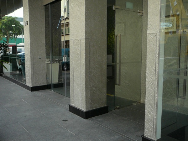 FastLogs installed in new hotel on Tyrwhitt Rd in Singapore. Photo: Double doors before deployment.